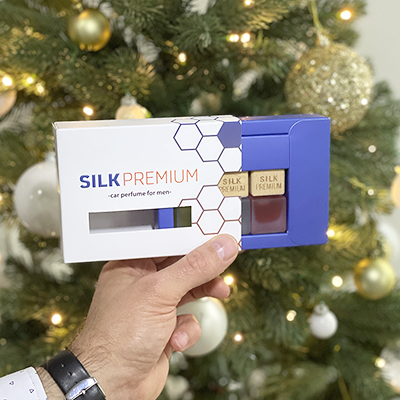 Silk Premium Autóparfüm Férfiaknak – Díszdobozban – 3db-os
